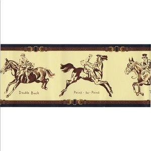 Ralph Lauren Aston Horses Wallpaper Border NEW